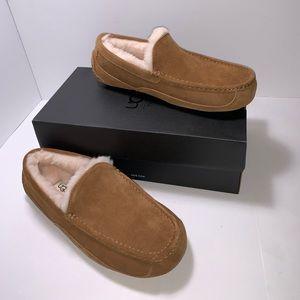 New Ugg Men's Ascot Slippers Chestnut Size 9